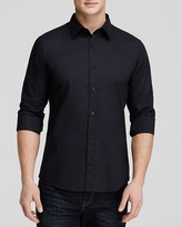 Michael Kors Stretch Cotton Button Down Shirt - Slim Fit