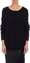 Nili Lotan Women's Cable-Knit Boyfriend Sweater-BLACK