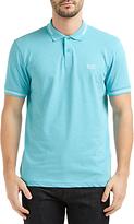 Hugo Boss Boss Green Paul Contrast Tipping Slim Fit Polo Shirt, Open Blue