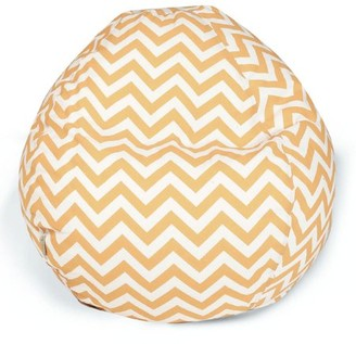 Majestic Home Goods Indoor Outdoor Sage Chevron Classic Bean Bag Chair 28 in L x 28 in W x 22 in H