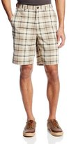 Haggar Men's Cool 18 Plaid Hidden Expandable Waist Short