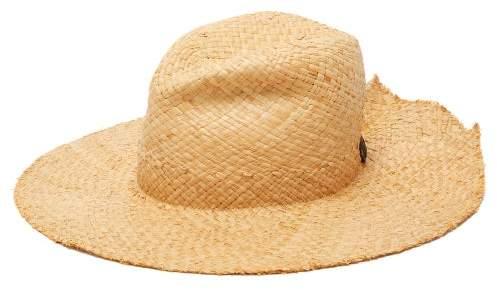 Lola Hats Re Commando Raffia Hat - Womens - Beige Black