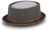 Daniel Cremieux Herringbone Pork Pie Hat