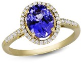 Effy Jewelry 14K Yellow Gold Tanzanite and Diamond Ring, 2.04 TCW