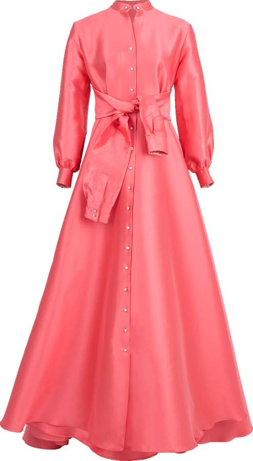 Alexis Mabille Waisted Tie Gown