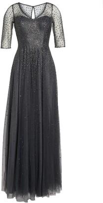 La Femme Waterfall Embellished Gown