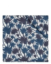 Silk Palm Print Pocket Square