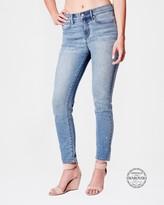 Nicole Miller Soho High Rise Skinny Jean With Swarovski Crystal