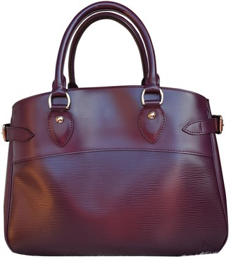 Louis Vuitton Passy Burgundy Leather Handbags