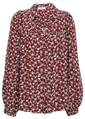 BA&SH Floral-print Crepe Shirt