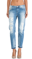 Maison Scotch Ripped Boyfriend Le Garcon with Distressed Hem