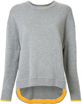 Enfold contrast cuffed sweater