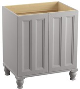 """Kohler Damask 30"""" Vanity Base Only with Furniture Legs and 2 Doors Finish: Mohair Grey"""