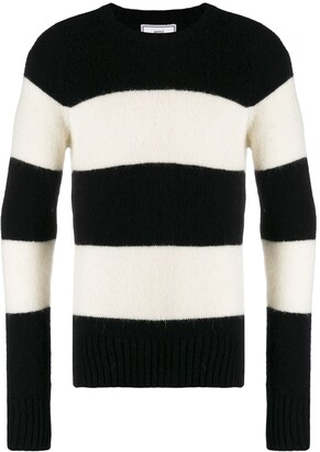 Ami Striped Crew Neck Jumper