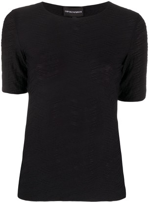 Emporio Armani textured style T-shirt