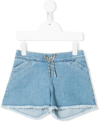 Chloé Kids Drawstring Waist Denim Shorts