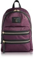 Marc Jacobs Dark Violet Nylon Biker Mini Backpack