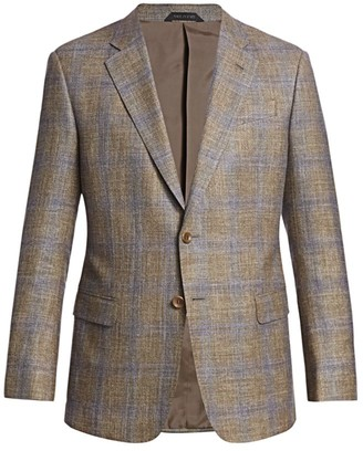 Giorgio Armani Windowpane Virgin Wool Suit Jacket