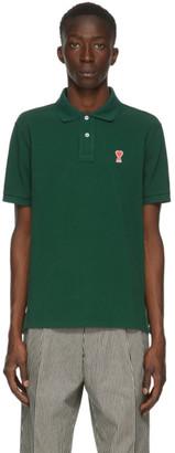 Ami Alexandre Mattiussi Green Ami De Coeur Polo Shirt