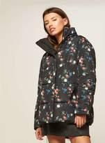 Miss Selfridge Reversible printed puffer jacket