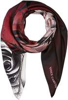 Vince Camuto Dipped Roses Square Scarf Scarves