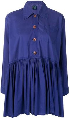 Romeo Gigli Pre Owned Flared Pleated Dress