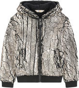 Little Eleven Paris False fur jacket with a crackled effect