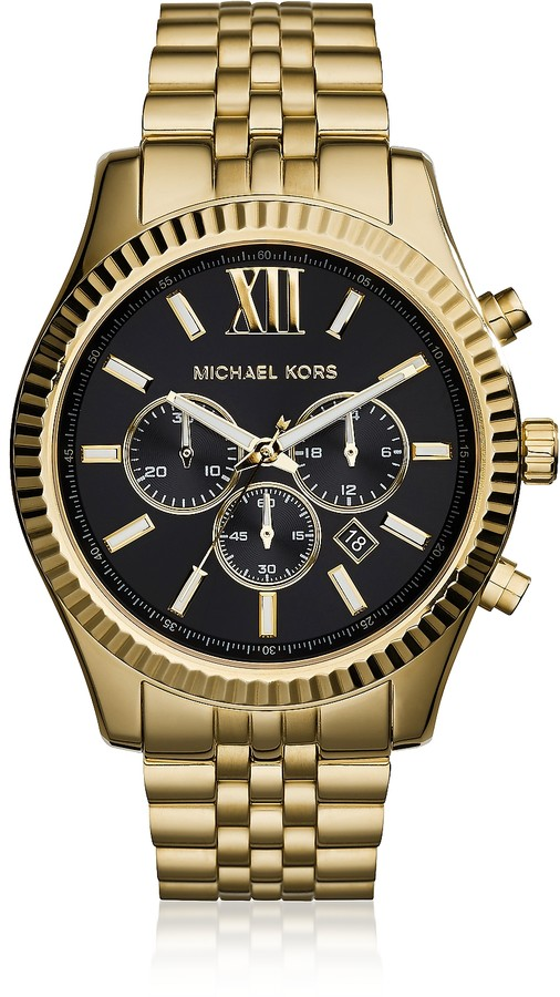 0a010d389ee6e Michael Kors Mens Stainless Steel Chronograph Watch - ShopStyle