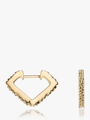 Wanderlust Emily Mortimer Jewellery Textured Mini Prism Hoop Earrings
