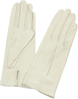 Forzieri Women's Ivory Unlined Italian Leather Gloves