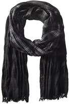 John Varvatos Men's Plaid Dip-Dye Scarf