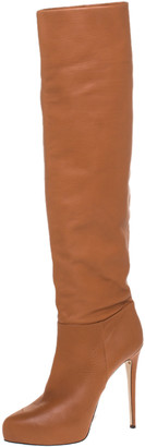 Le Silla Caramel Brown Leather Over The Knee Boots Size 40