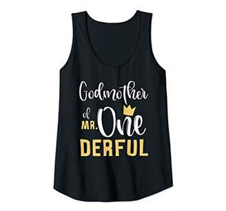 Womens Godmother of Mr Onederful 1st Birthday First One-Derful Tank Top
