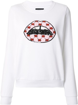 Markus Lupfer Lips Embroidered Sweatshirt