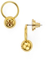 Tory Burch Logo Bead Drop Earrings