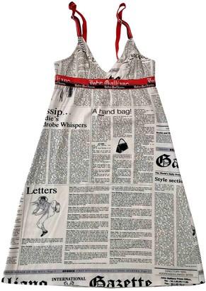 John Galliano White Cotton - elasthane Dress for Women Vintage