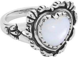 American West Sterling Gemstone Heart Ring