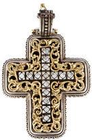 Konstantino Two-Tone Diamond Cross Pendant