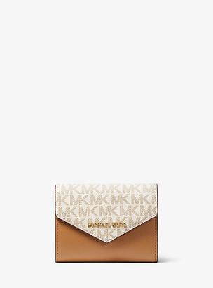 Michael Kors Medium Logo and Leather Envelope Wallet