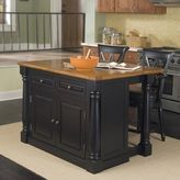 Home styles Monarch 3-pc. Kitchen Island & Counter Stools Set