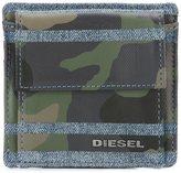 Diesel camouflage print wallet