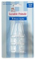 Luvable Friends 3-Pack Silicone Bottle Nipples