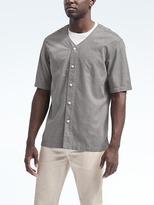 Banana Republic Grant Slim-Fit Short-Sleeve Baseball Shirt