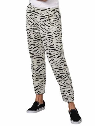 Velvet by Graham & Spencer Women's Sang Zebra Fleece Sweatpants