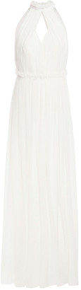 Alberta Ferretti Cutout Gathered Silk-chiffon Gown