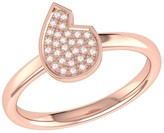 Lmj Street Cycle Ring In 14 Kt Rose Gold Vermeil On Sterling Silver