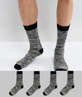 Jack and Jones Socks 4 Pack In Slub
