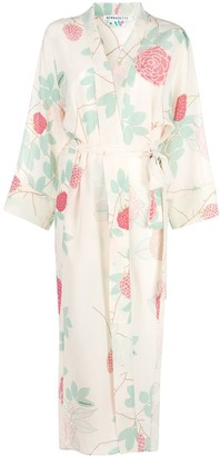 BERNADETTE Silk Floral Wrap Shirt Dress