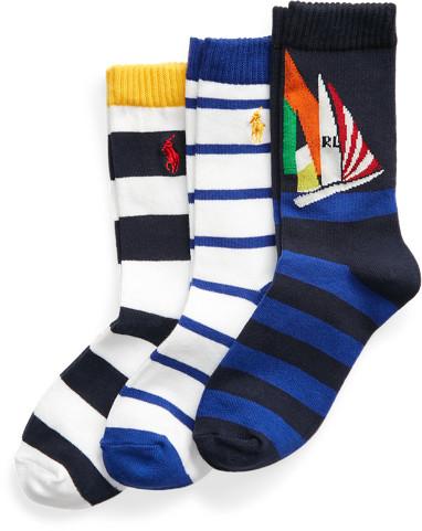 Ralph Lauren Yacht Crew Sock 3-Pack