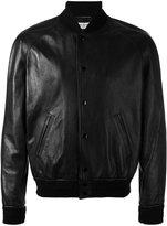 Saint Laurent classic bomber jacket - men - Cotton/Leather/Cupro/Wool - 48